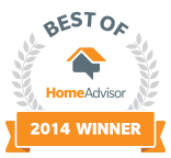 HomeAdvisor Best Of 2014 Winner